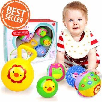 ฺBaby Toys Rattles Ball ชุดเซ็ทของเล่นเด็ก ลูกบอลหลากสีเขย่าแล้วมีเสียง