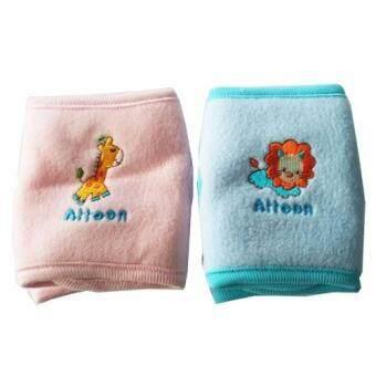 Attoon สนับเข่าเด็ก แพ็ค 2 คู่ (สีฟ้า/ส้ม)