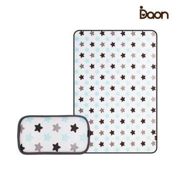Daon เซตเบาะรองนอนระบายอากาศ พร้อมหมอน Set 3D Air Mesh -Twinkle ลายดาว สีขาว