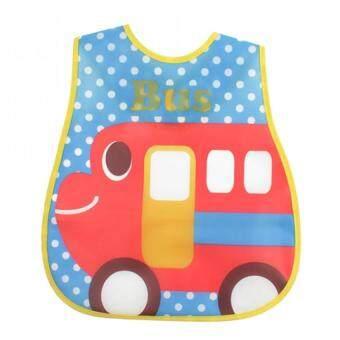 Baby Touch ผ้ากันเปื้อนเด็ก กันน้ำ ลายรถบัส