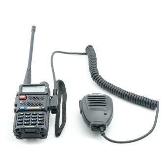 ไมค์ลำโพงแบบพกพา วิทยุสื่อสาร BAOFENG UV-5R Speaker-mic for dual band radio (สีดำ)