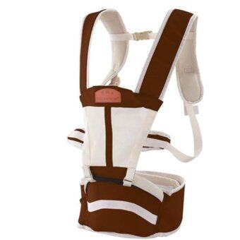 กาแฟ มัลติฟังก์ชั่ ระบายอากาศได้ ไหล่คู่ Baby Carrier ผู้ให้บริการทารก เอว เข็มขัด with เอว ม้านั่ง - intl
