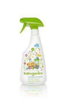 BABYGANICS UPPER TOY AND HIGHCHAIR CLEANER ผลิตภัณฑ์ทำความสะอาดของเล่นและโต๊ะทานอาหาร ไม่มีกลิ่น 502 มล.