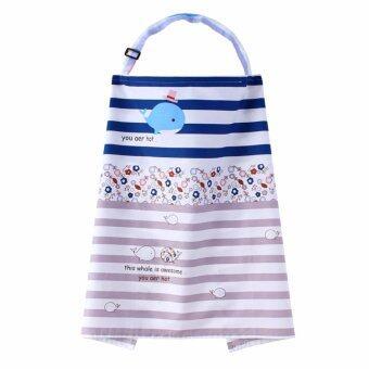 Nursing Covers ผ้าคลุมให้นม ผ้าคลุมปั้มนม ลายสวย เนื้อผ้าดี ลายปลาวาฬ4 (Breastfeeding Cover)
