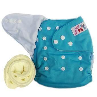 กางเกงผ้าอ้อมกันน้ำ+แผ่นซับไมโครฯ Size:3-16กก. (Blue)(Blue Others)