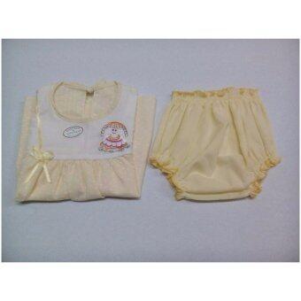 ชุดเซ็ทเสื้อผ้าเด็กผู้หญิงอายุ 6-9 เดือน กระโปรง และ กางเกงชั้นใน