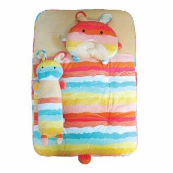PAPA BABY ชุดปิคนิคเวลบัว Rainbow ลายกระต่าย