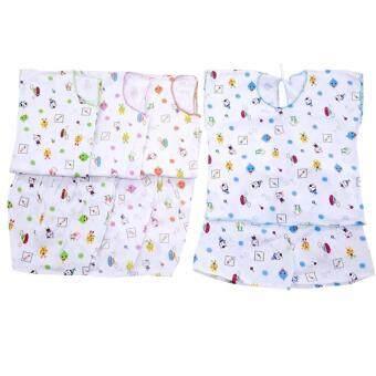 Baby ชุดเด็กอ่อนผ้าป่านแบบผูก (เซ็ต 4 ชุด)