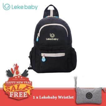 Lekebaby กระเป๋าผ้าอ้อม สำหรับคุณแม่ รุ่น Convertible (Cross-Body/Backpack) – S (Black)