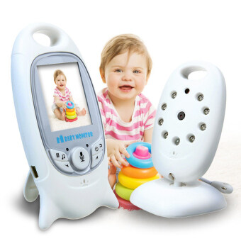 Harga Infant 2.4 GHz Wireles Baby Camera Radio Babysitter Digital Video Baby Monitor Audio Night Vision Music Temperature Display Radio Nanny(White)