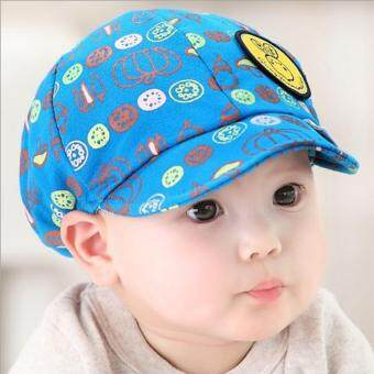 Harga Newest Summer Newborn Baby Hat Kids Cap Infant Baby Hat for Boys and Girls-deep blue - intl