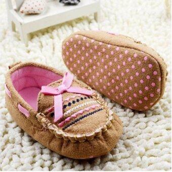รองเท้าแฟชั่นเด็กทารก สีน้ำตาล ไซส์ s เบอร์ 11 (0-6 เดือน)