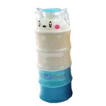 PAPA กระปุกแบ่งนมผง แบ่งนม 4 ชั้น สีฟ้า (แพ็ค 1 ชิ้น)