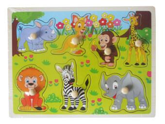 DD Baby จิ๊กซอร์หมุดไม้ รวมสัตว์ ของเล่นไม้เสริมพัฒนาการ