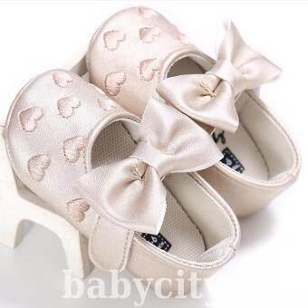 รองเท้าหัดเดิน รองเท้าเด็กอ่อน รองเท้าเด็กพื้นผ้า baby shoe Prewalker ของใช้เด็กอ่อน รองเท้าทารก รองเท้าเด็กเล็ก รองเท้าบูทเด็กอ่อน สีทอง