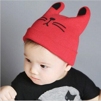 เป็นเด็กทารกหมวกหมวกหมวกหัวฝ้ายอบอุ่นเด็กแมว และหมวกไหมพรมหมวกไหมพรม