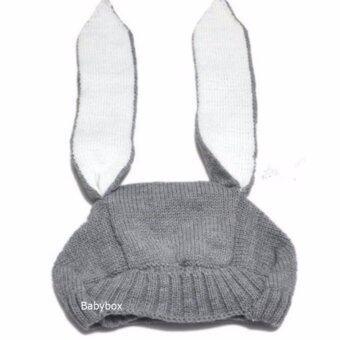 หมวกเด็กเล็ก หมวกเด็กอ่อน หมวกไหมพรมเด็กทรงกระต่ายหูยาว