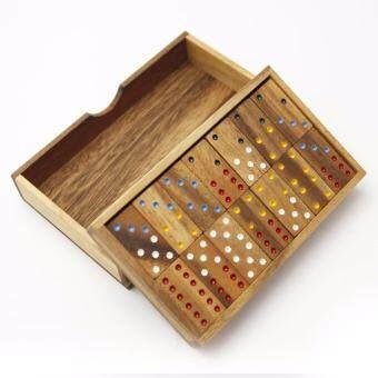 โดมิโน่ 6 จุด ขนาดใหญ่ (Six Domino - L) โดมิโน่ 2 ชั้น ใหญ่ (สีน้ำตาลแดง)
