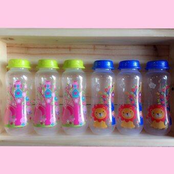 Baby bottle storage ขวดนมแรกเกิด ขวดเก็บน้ำนม ขนาด 8 ออนซ์ (6ขวด) แถมฟรี!! ขวดนม 2 ออนซ์ 1 ใบ มูลค่า 120 บาท