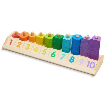 Harga Melissa & Doug Counting Shape Stacker