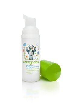BabyGanics โฟมล้างมือสูตรไม่ต้องล้างน้ำออก ขนาดพกพาขนาด 50 มล. แบบไม่มีกลิ่น
