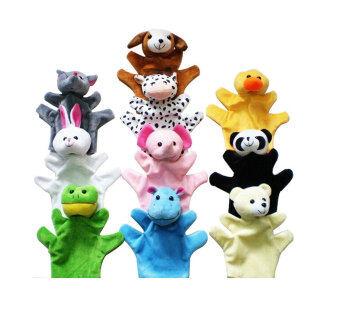 Leegoal หุ่นมือตุ๊กตาสัตว์น่ารักชุดสำหรับเด็กเด็ก, ชุด 10