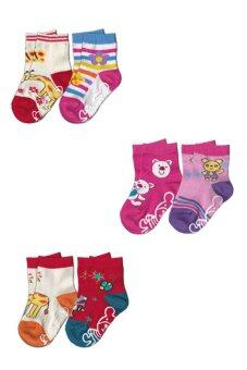 Dsox ถุงเท้าแฟชั่นเด็ก 1-2 ปี - Multicolor (แพ็ค 6 คู่)