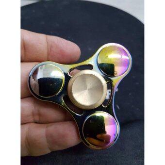 Fidget Spinner ลูกข่างมือหมุน finger gyro Tri-s Pinner ของเล่นอยู่ไม่สุข, รุ่นRAINBOW