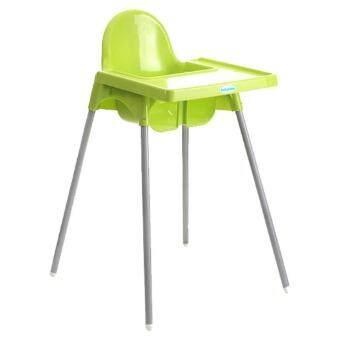 เก้าอี้ทานข้าวเด็ก ปรับระดับได้ 2 ระดับ-เขียว