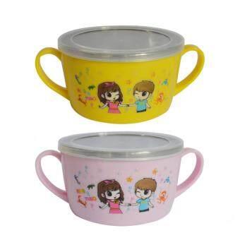 จัดการเด็กสองถ้วยที่มีฝาปิด