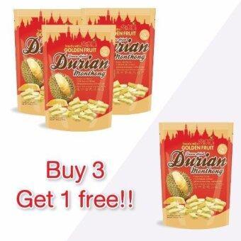Golden Fruit Durian Freeze-dried (ทุเรียนฟรีซดรายตราโกลเด้นฟรุ๊ต100 กรัม) 100 g.