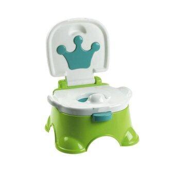 กระโถนนั่งสำหรับเด็ก มีเสียงเพลง-สีเขียว