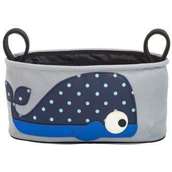 PlayToys อุปกรณ์เสริมสำหรับรถเข็น กระเป๋าใส่ของจุกจิก ขวดนม ขวดน้ำ (Stroller Organizer) รูปปลาวาฬ