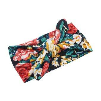 Harga New Lovely Rabbit Ear Hair Band Girls & Kids Head Wrap Floral Headband 4#