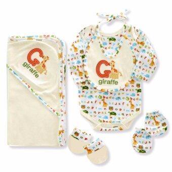 Babybrown Giftset ไม้แขวน สำหรับเด็กแรกเกิด ชุด 5 ชิ้น สีขาว