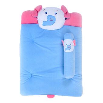 ชุดที่นอนผ้าขนหนูหัวสัตว์ 30 X 40 นิ้ว (สีฟ้า)
