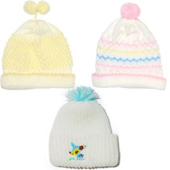 P&Kชุดเด็กแรกเกิด หมวกรุ้งชมพู หมวกเม็ดข้าวเหลือง หมวกเค้กขาวกวางฟ้า สำหรับเด็กแรกเกิด- 3เดือน