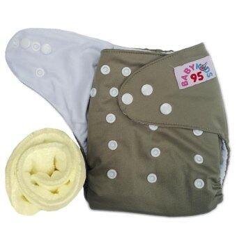 กางเกงผ้าอ้อมกันน้ำ+แผ่นซับไมโครฯ Size:3-16กก. (Grey)(Grey Others)