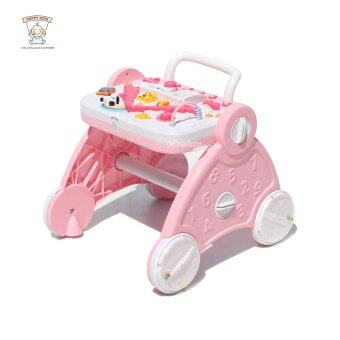 Thaiken 2in1 รถผลักเดิน และ แผงของเล่น (สีชมพู)