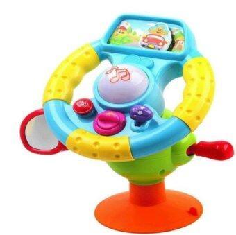 Little Pumpkin ของเล่นเสริมพัฒนาการ พวงมาลัยหัดขับเด็กเล็ก พร้อมตัวดูดพื้น มีเสียงเพลงและปุ่มต่างๆ