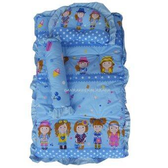 Baby Club ชุดที่นอนเด็กอ่อน ลายการ์ตูนเด็กน่ารัก ผ้า TC (สีฟ้า)