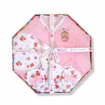 Babybrown Giftset กล่อง สำหรับเด็กแรกเกิด ชุด 5 ชิ้น สีชมพู