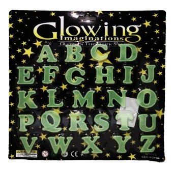 แผ่นติดผนังหรือเพดานเรืองแสงสำหรับเด็ก ตัวอักษรภาษาอังกฤษ Glow in the Dark sticker for kids English Alphabet