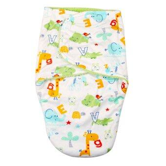 Harga Baby Short plush double little swaddle Green animals