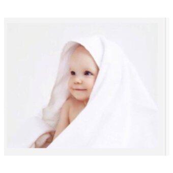 ผ้าห่มเด็กออแกนิค / Pure White Baby Blanket in Organic Cotton /