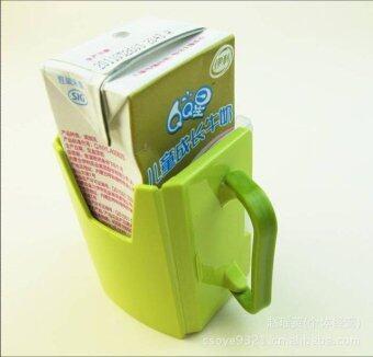 กล่องกันบีบนม-น้ำผลไม้ #สีเขียว (image 2)