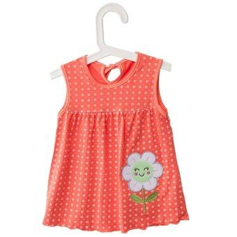 Harga Cute Jewel Collar Sleeveless Colorful Flower Animal Embroidered Flounce Baby Girls Cotton Dress - intl