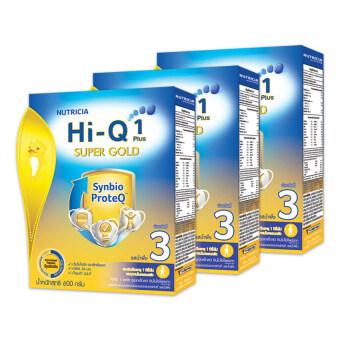 ขายยกลัง ! Hi-Q ไฮคิว นมผง 1พลัส 3 ซูเปอร์โกลด์ SYNBIO PROTEQ รสน้ำผึ้ง 600 กรัม (ทั้งหมด 3 กล่อง)