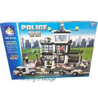 Khonglendee ชุดตัวต่อเลโก้ ตำรวจน้ำ NO.6725 (631 PCS)