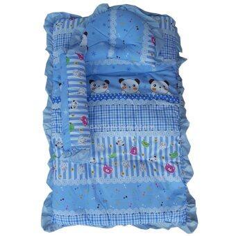 Baby Club ชุดที่นอนเด็กอ่อน ลายการ์ตูนหมี ผ้า TC (สีฟ้า)
